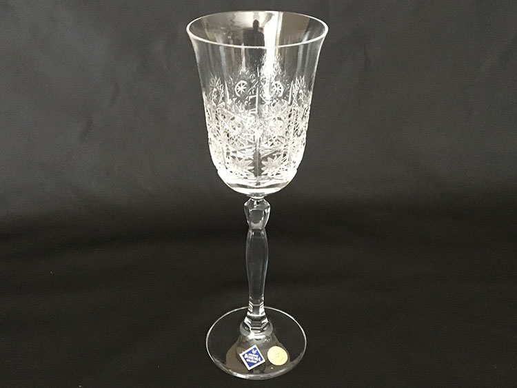 Crystal Bohemia Hand Cut Goblets Czech *Set of 6*