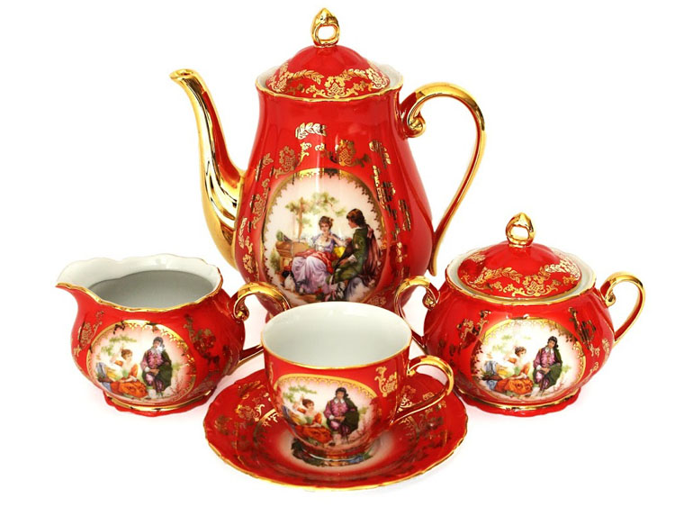 Madonna Red-Ruby Coffee Set