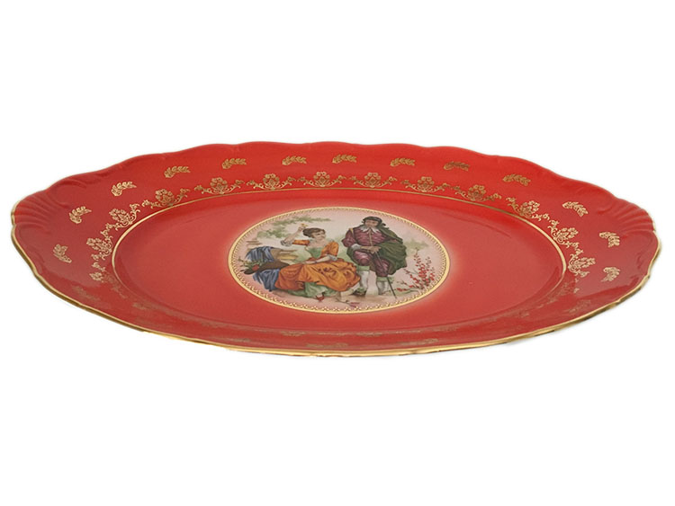 Madonna Original Red-Ruby Oval Dish 16 Inch