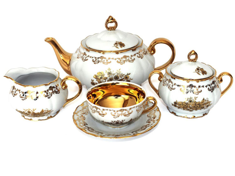 Golden Flower Gold Tea Set