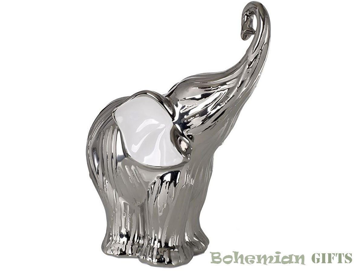 BohemianGift Collection Trunk Raised Wealth Lucky Elephant Figurine Statue